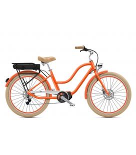 """Cruiser à assistance électrique O2Feel POP N8 Orange Corail 26"""" Mid - P600 2020"""