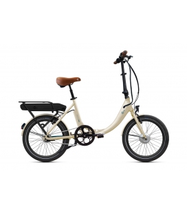 "Vélo pliant à assistance électrique O2Feel PEPS ON7 Blanc Lin 20"" Univ - Origin - P400 2020"