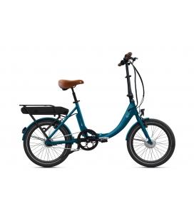"""Vélo pliant à assistance électrique O2Feel PEPS N7 Bleu Cobalt 20"""" Univ - P400 2020"""