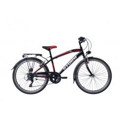 """Vélo enfant STORM 24"""" 6 vit. noir/rouge 2021"""