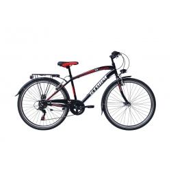 """Vélo enfant STORM 26"""" 6 vit. noir/rouge 2021"""