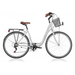 """Vélo de ville CENTRAL PARK 28"""" 6 vit. dame blanc 2021"""