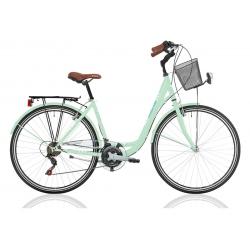 """Vélo de ville CENTRAL PARK 28"""" 18 vit. dame vert 2021"""