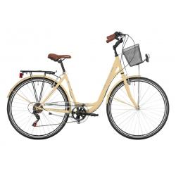 """Vélo de ville CENTRAL PARK 28"""" 18 vit. dame crème 2021"""