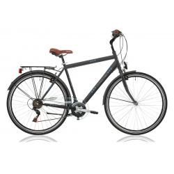 """Vélo de ville CENTRAL PARK 28"""" 18 vit. homme noir 2021"""