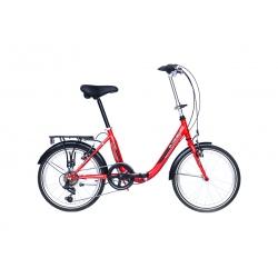 """Vélo pliant BLOIS 20"""" 6 vit. rouge 2021"""