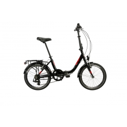 "Vélo pliant LYON 20"" 6V noir 2020"