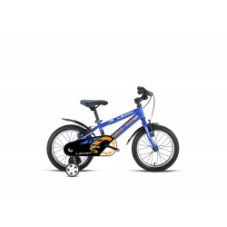 "Vélo enfant LEON 14"" bleu/orange 2021"