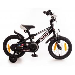"Vélo enfant POLICE 14"" torpédo noir/blanc 2021"