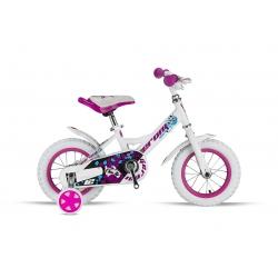 "Vélo enfant SHARKY 12"" blanc/rose 2021"