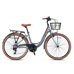 """Vélo de ville Kron CX 100 26"""" dame bleu/gris 2021"""