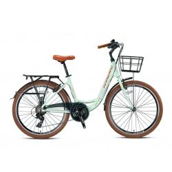 """Vélo de ville Kron CX 100 26"""" dame menthe/brun 2021"""