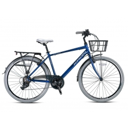 """Vélo de ville Kron CX 100 28"""" homme bleu/gris 2021"""