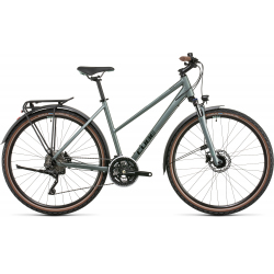 Vélo fitness Cube Nature Pro Allroad silvergreen'n'black Trapeze 2022