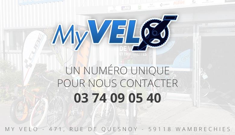 My Velo nouveau numéro de téléphone